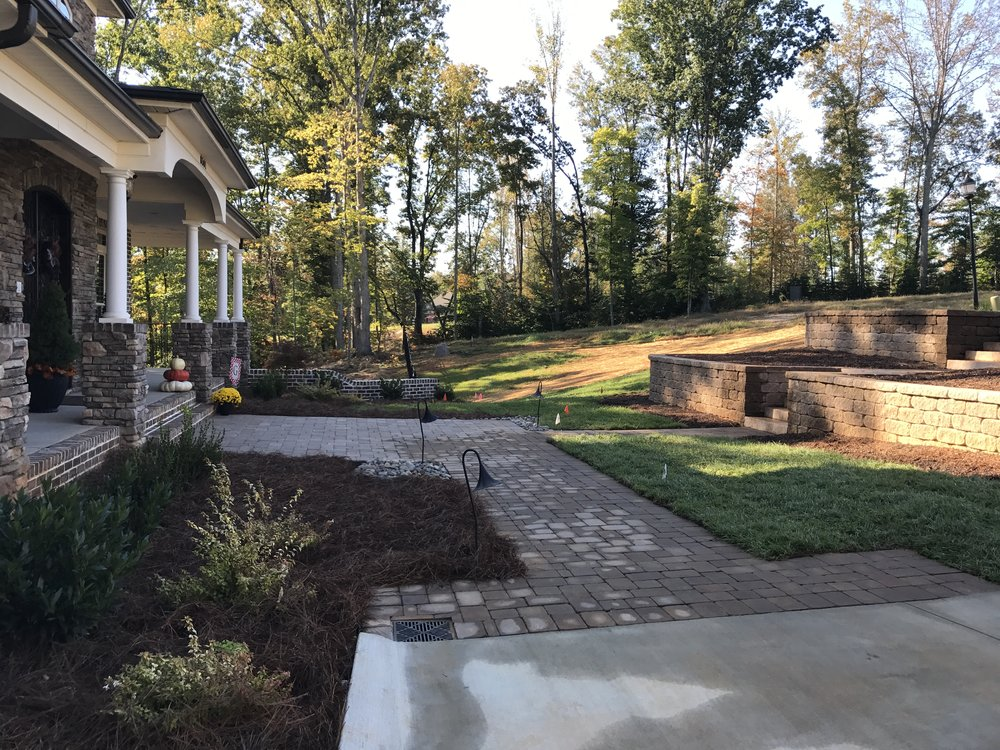 New Front Hardscape- 3D landscape Design Greensboro, NC