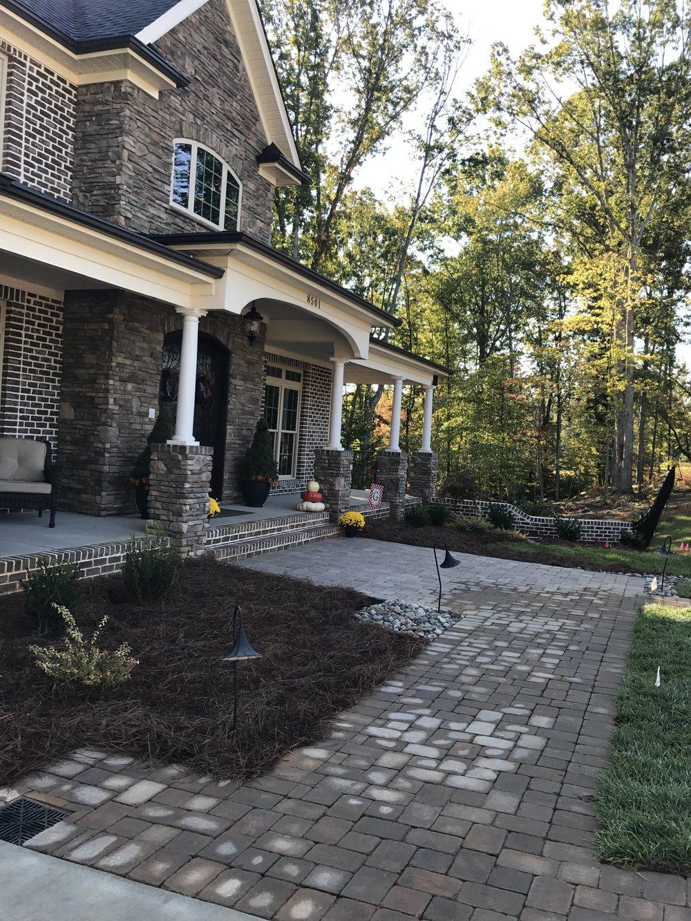 New Front Hardscape -3D Landscape Design Greensboro, NC