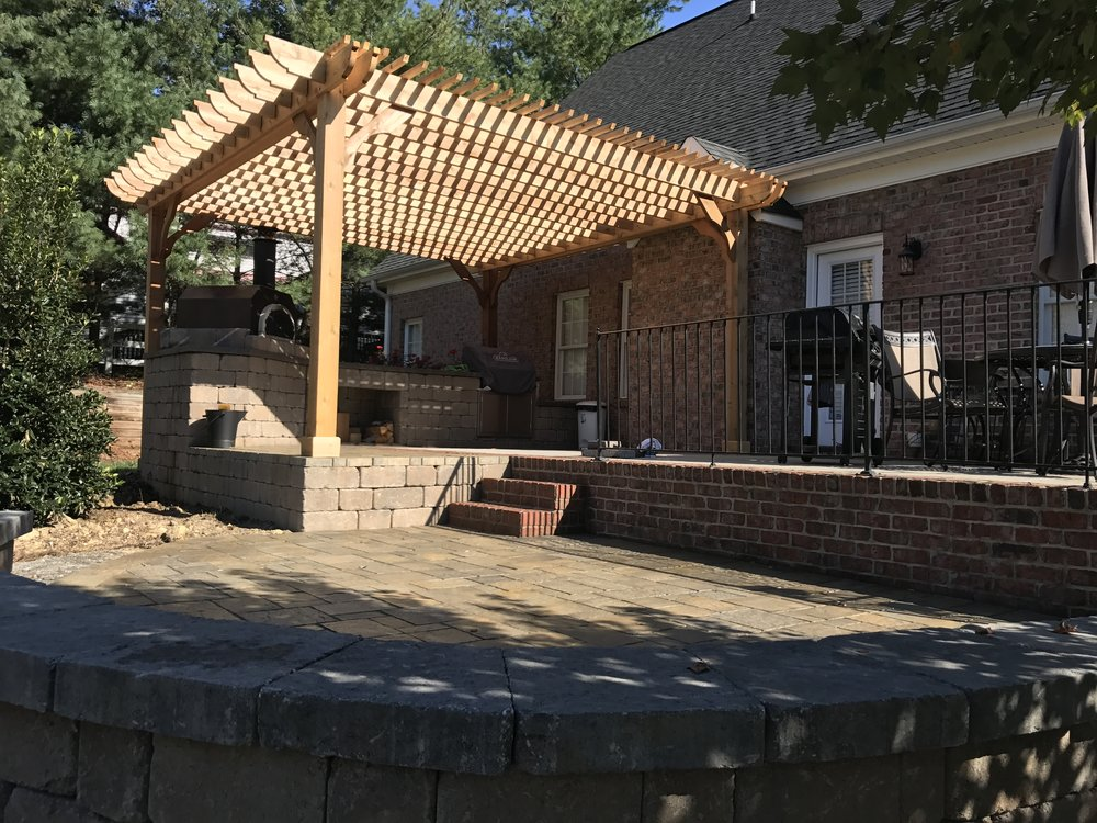 New Pergola- 3D Landscape Design High Point, NC