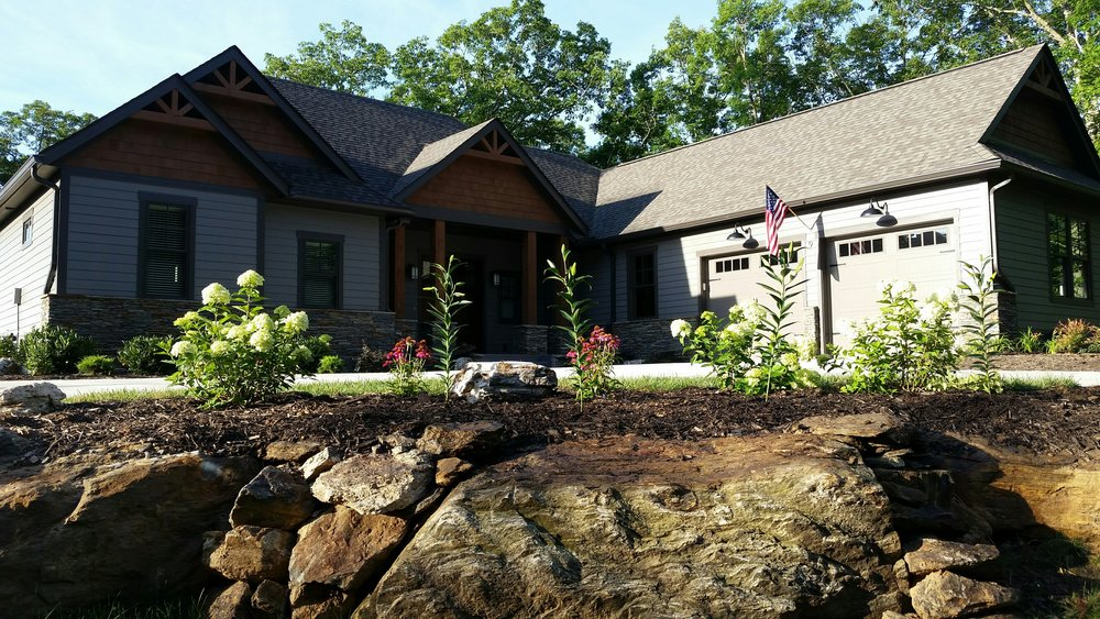 New Construction Plantings- 3D Landscape Design Asheville, NC