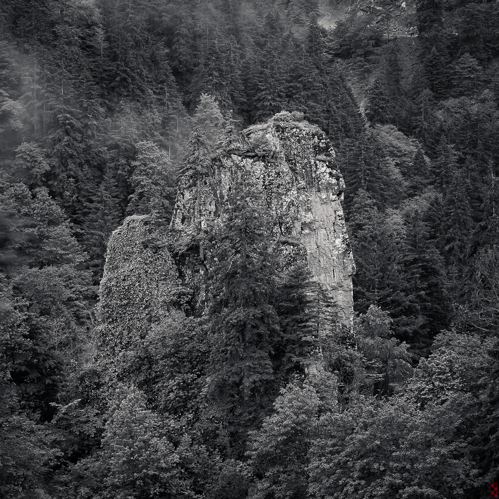 Rock outcropping in the Sumela valley, Trabzon, Turkey