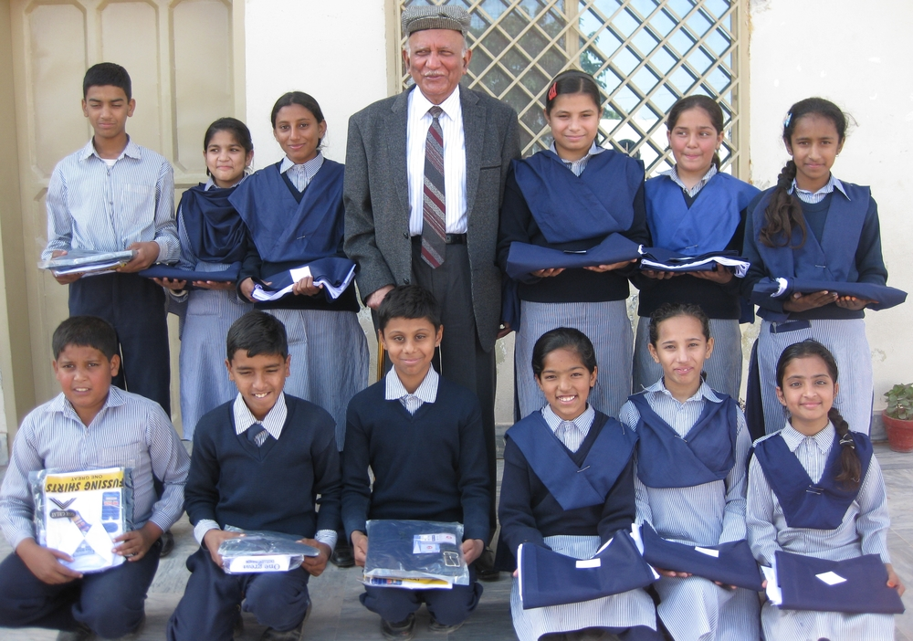 School uniform is provided to each child twice a year