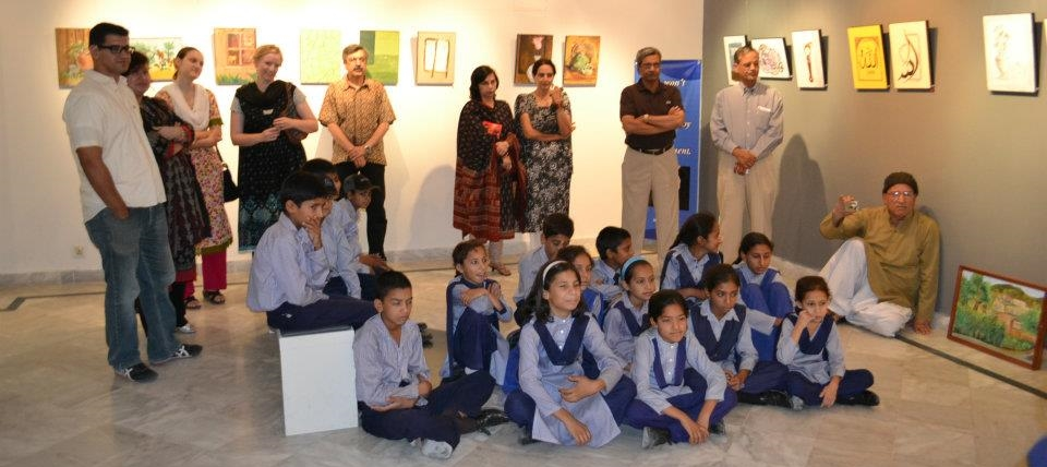 Exhibition by children at gallery 6