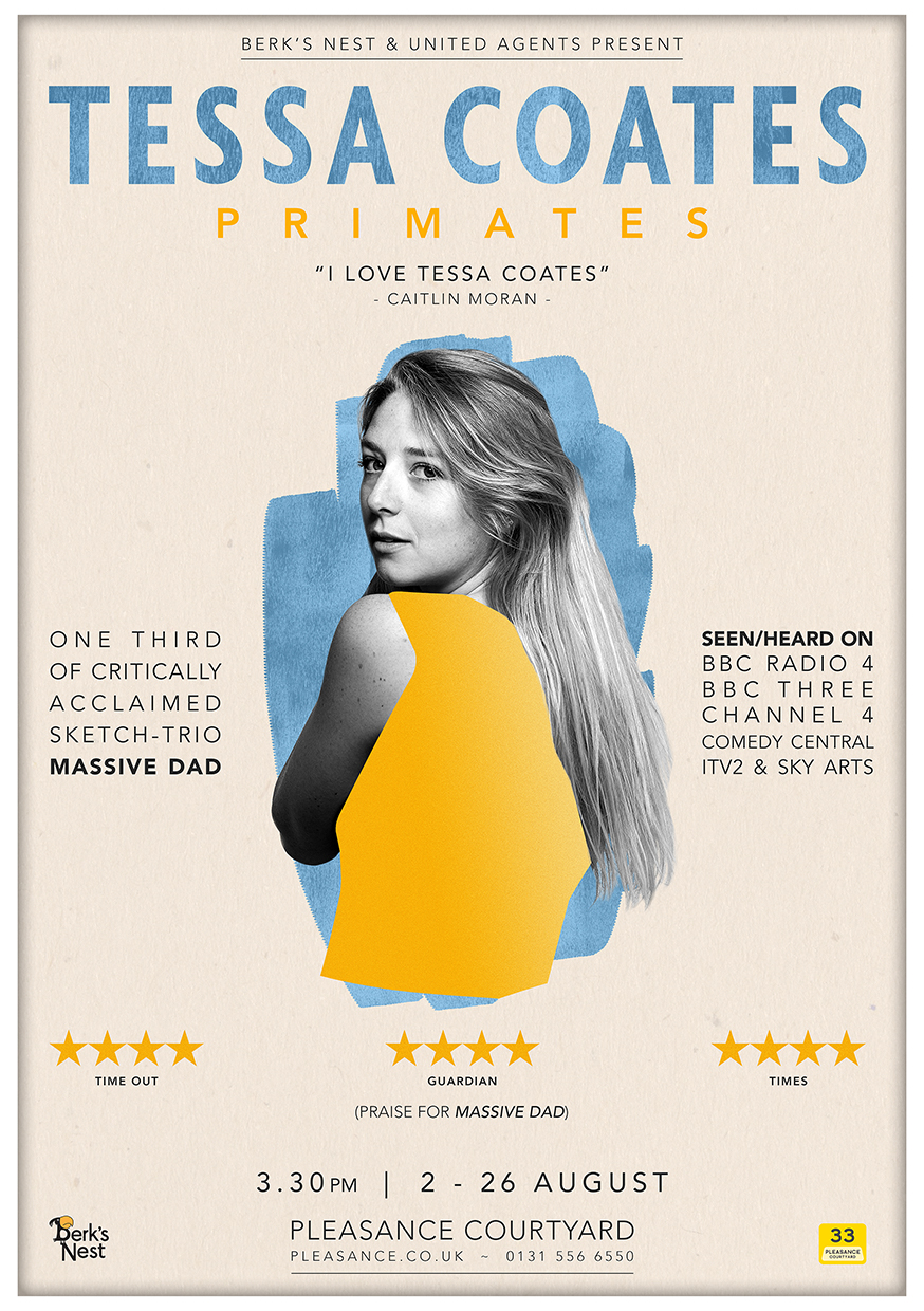 Tessa Coates: Primates  (Edinburgh & two Soho Theatre runs)