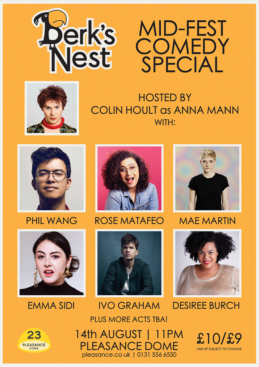 Berk's Nest Mid-Fest Comedy Special  (One Monday night in Edinburgh)