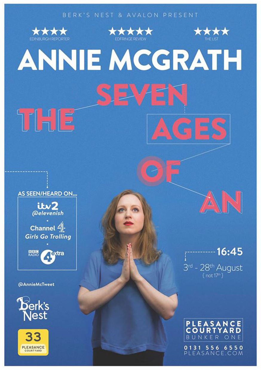 Annie McGrath: The Seven Ages of An  (Edinburgh & The Bill Murray, London)
