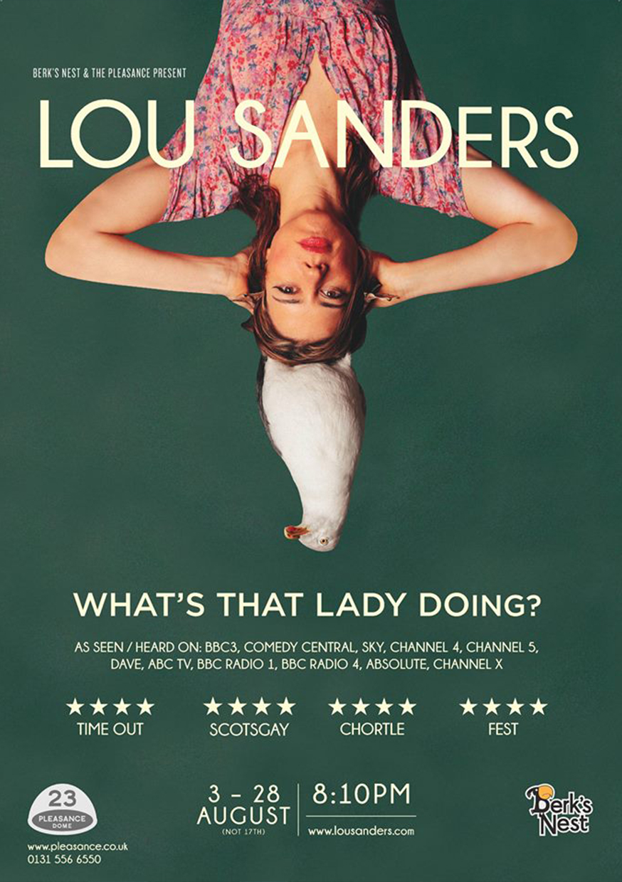 Lou Sanders: What's That Lady Doing?  (Edinburgh, Soho Theatre & NextUp streaming)