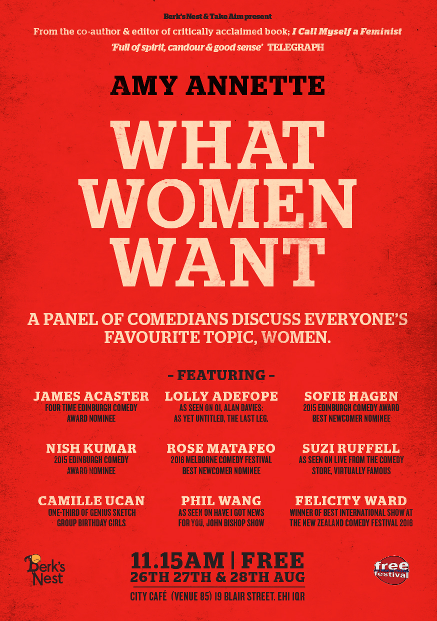What Women Want with Amy Annette  (Edinburgh)