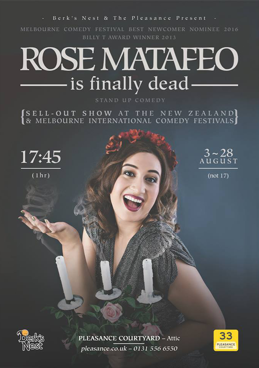 Rose Matafeo is Finally Dead  (Edinburgh, Soho Theatre, Melbourne & New Zealand)