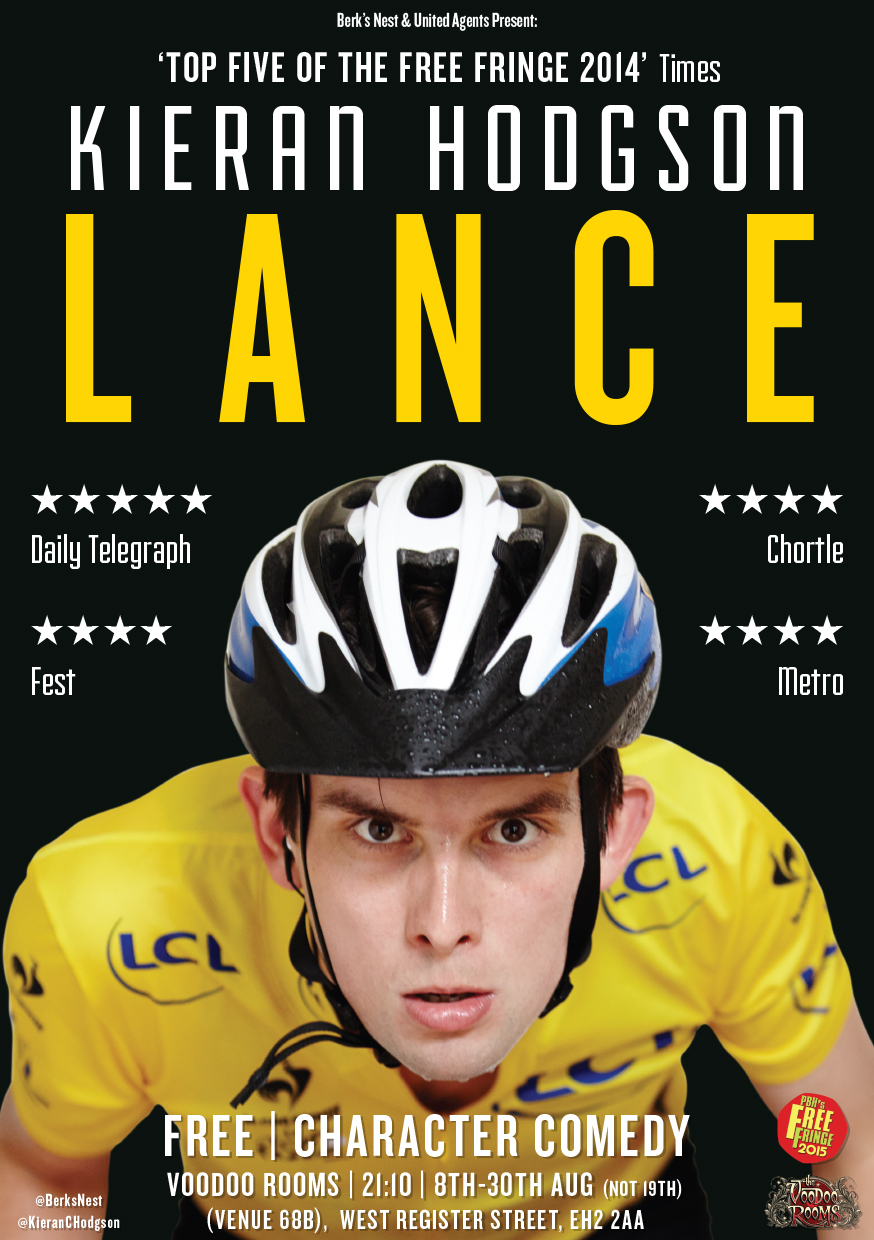 Kieran Hodgson: Lance  (Edinburgh, extended Soho Theatre run, UK tour)