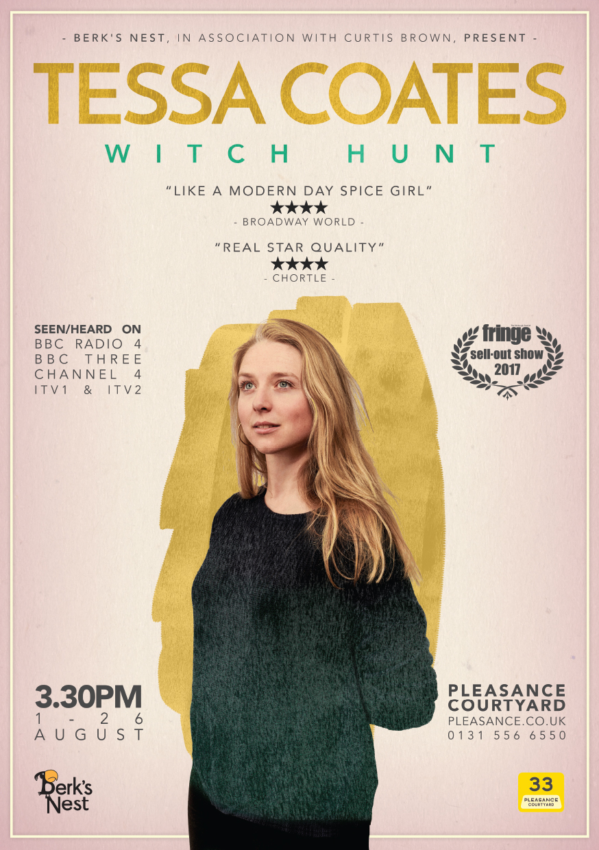 Tessa Coates: Witch Hunt   Pleasance Courtyard, 15:30
