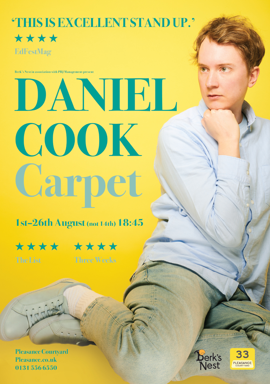 Daniel Cook: Carpet   Pleasance Courtyard, 18:45