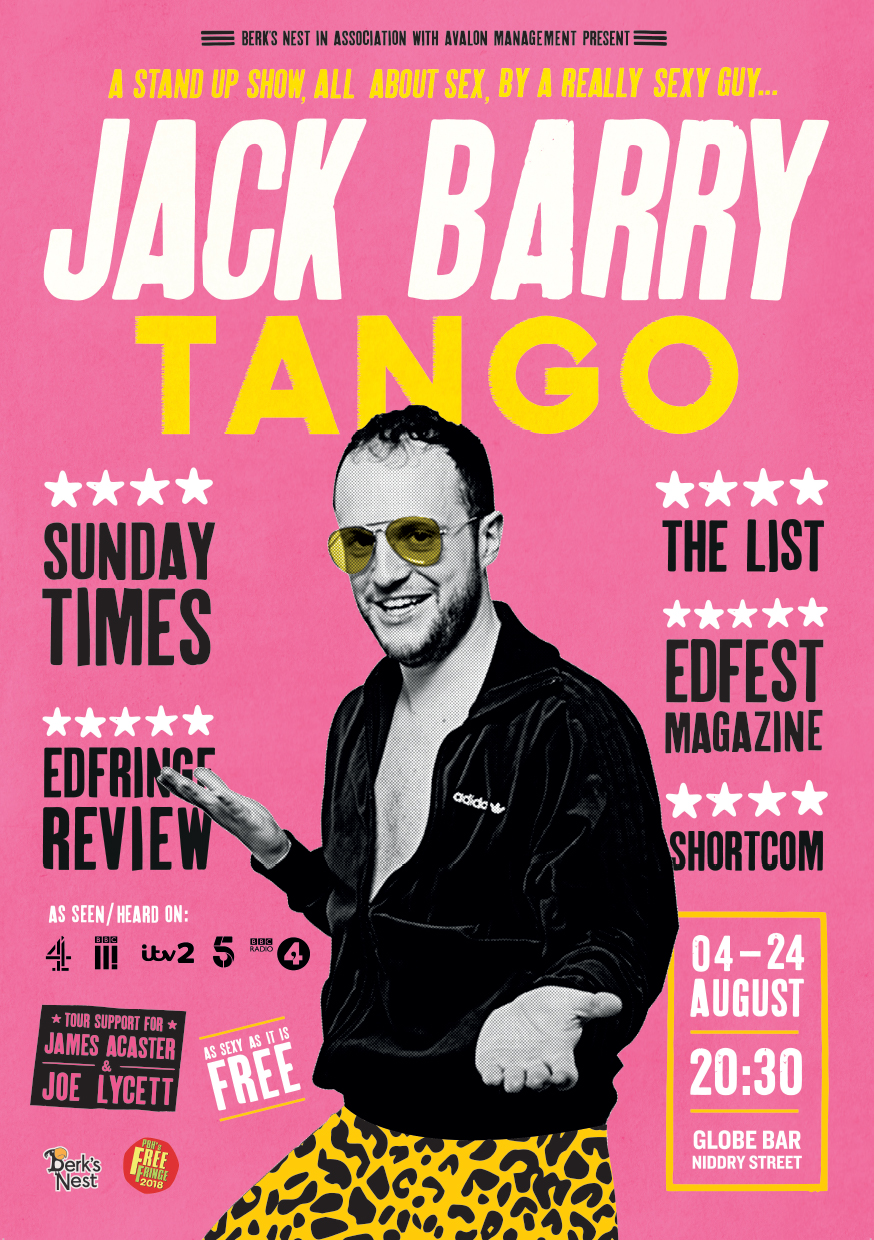 Jack Barry: Tango   The Globe, Niddry Street, 20:30