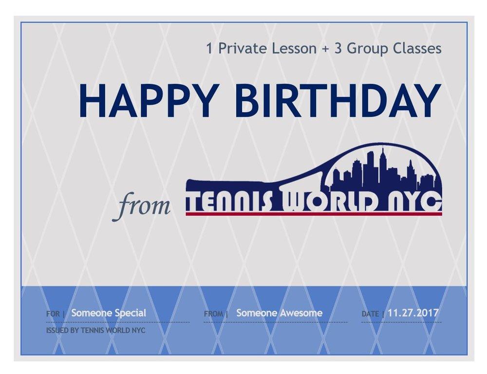 Tennis World NYC Gift Certificate.JPG