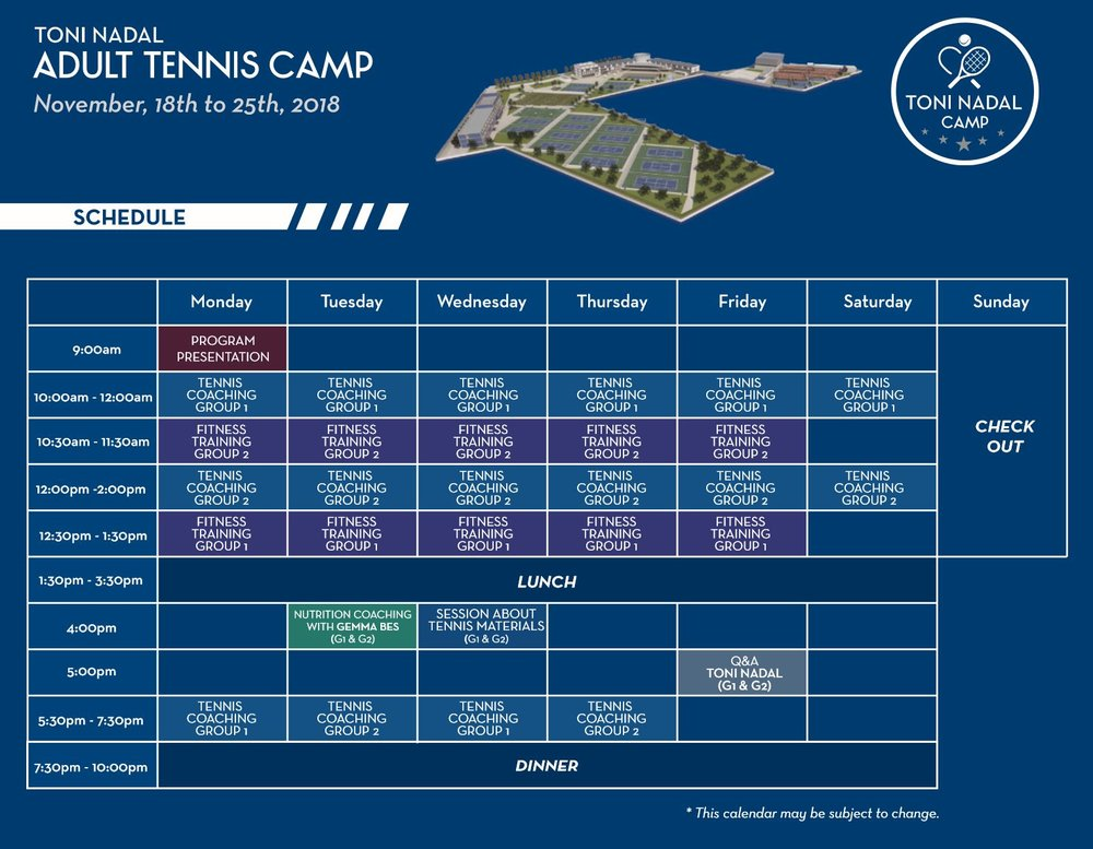 Toni Nadal Camp Schedule.JPG