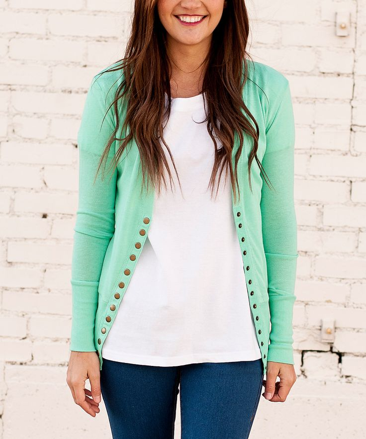 Mint Cardigan - so cute!