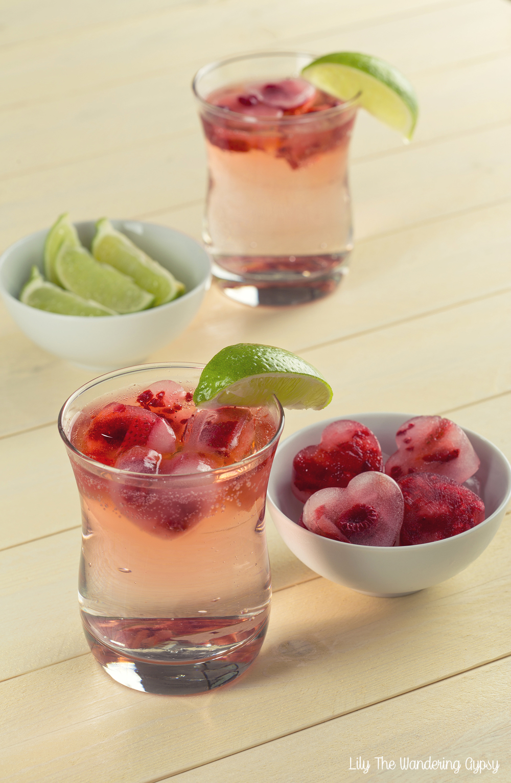 Gin and Tonic - With Raspberry Infused Ice Cubes