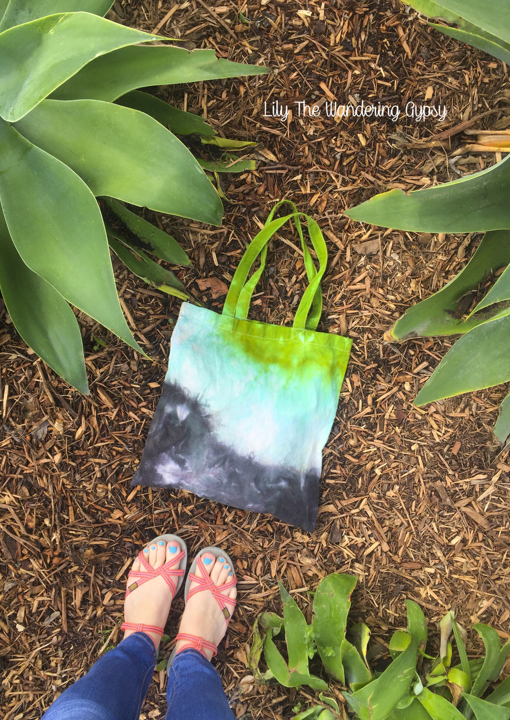 Brightly Twisted Tie Dyed Cotton Tote
