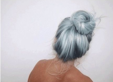 Pale Blue Hair