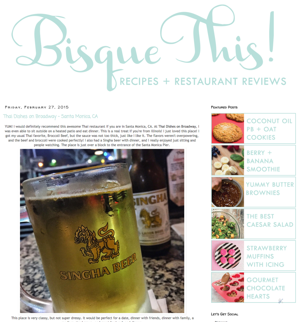 Check out this awesome food blog - Bisque This!