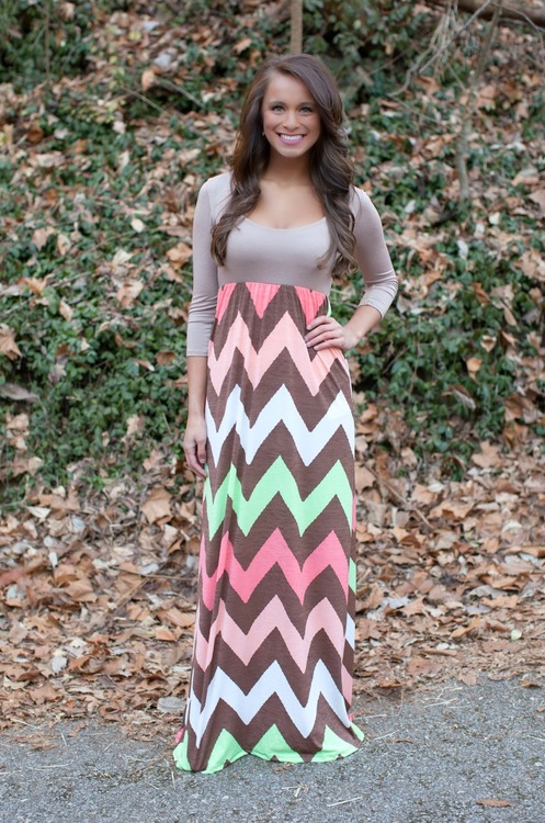 Chevron Maxi Skirt + Top