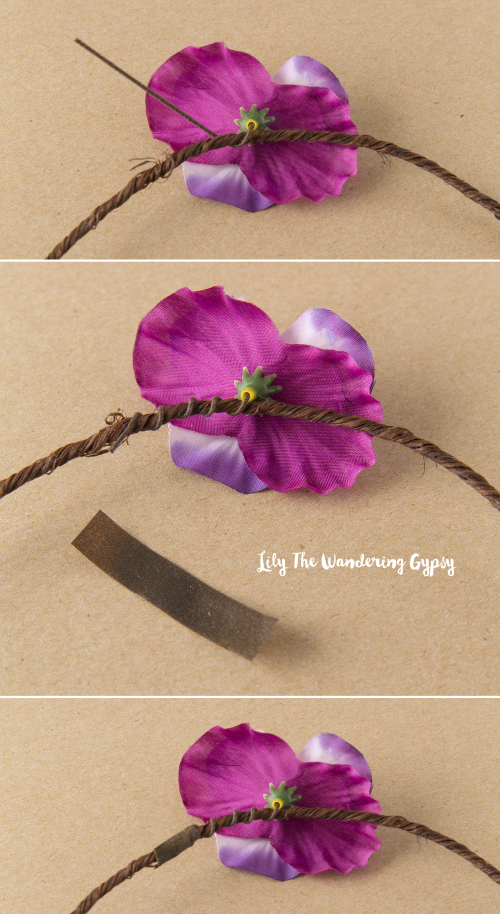 How to make a festival ready flower crown lily the wandering gypsy how to create a festival ready flower crown izmirmasajfo Images