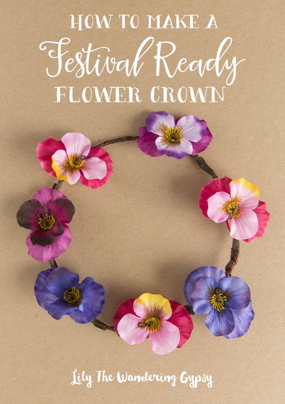 How to make a festival ready flower crown lily the wandering gypsy how to make a festival ready flower crown izmirmasajfo Images