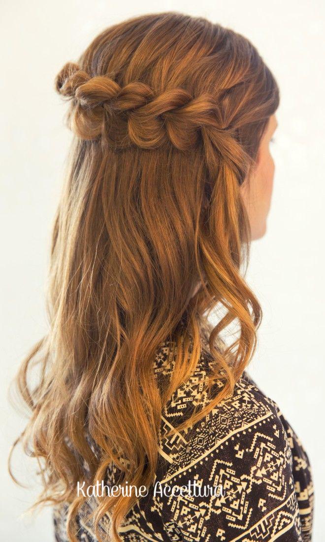 Dutch Braided Crown Hairstyle
