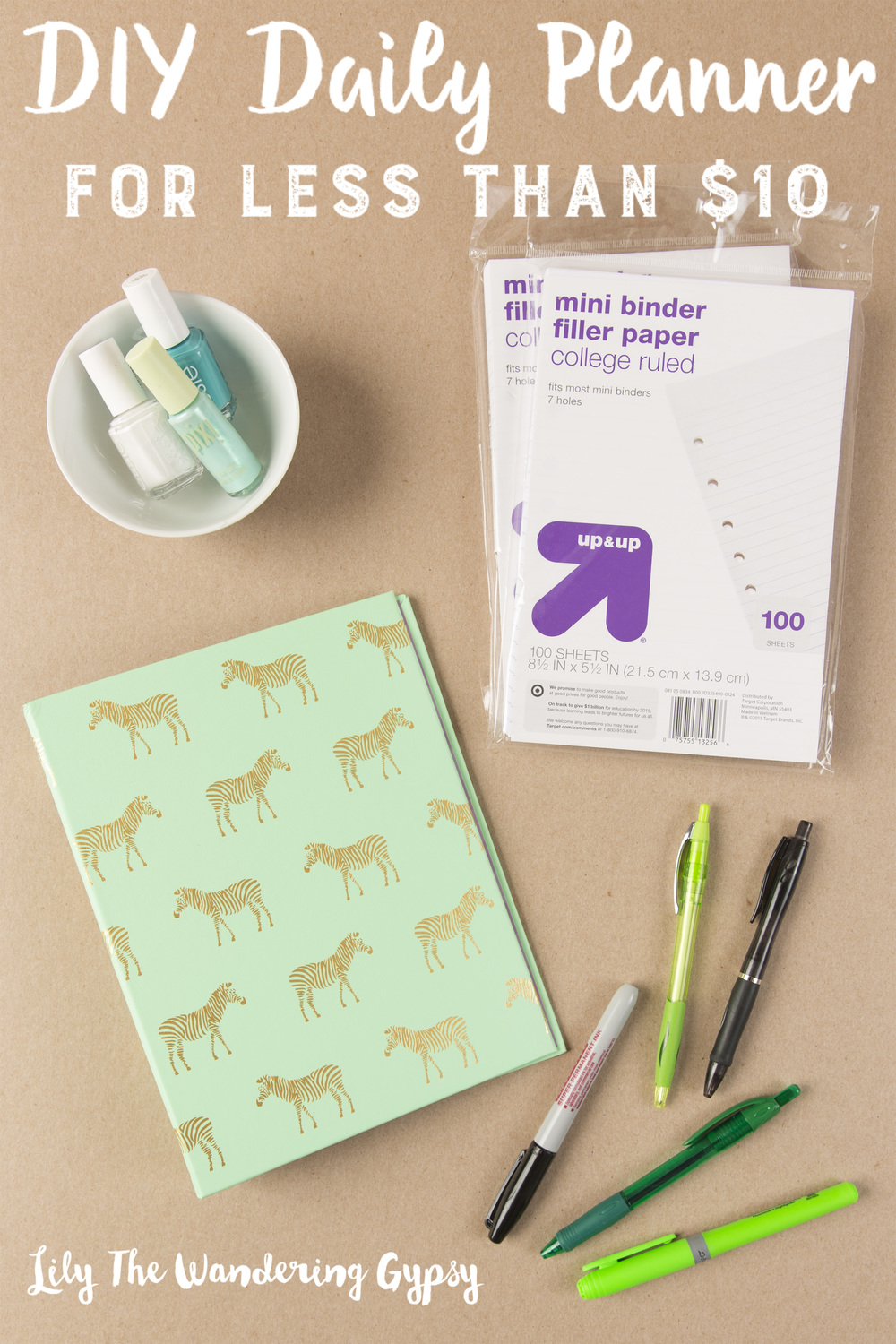Diy Calendar Notebook : Diy daily planner tutorial for under — lily the