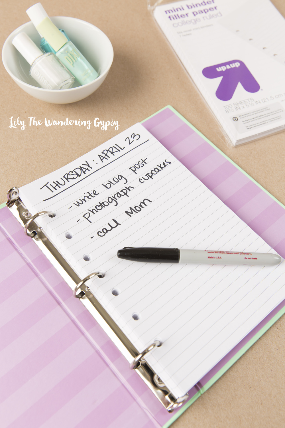 Diy Daily Planner Tutorial For Under 10 00 Lily The