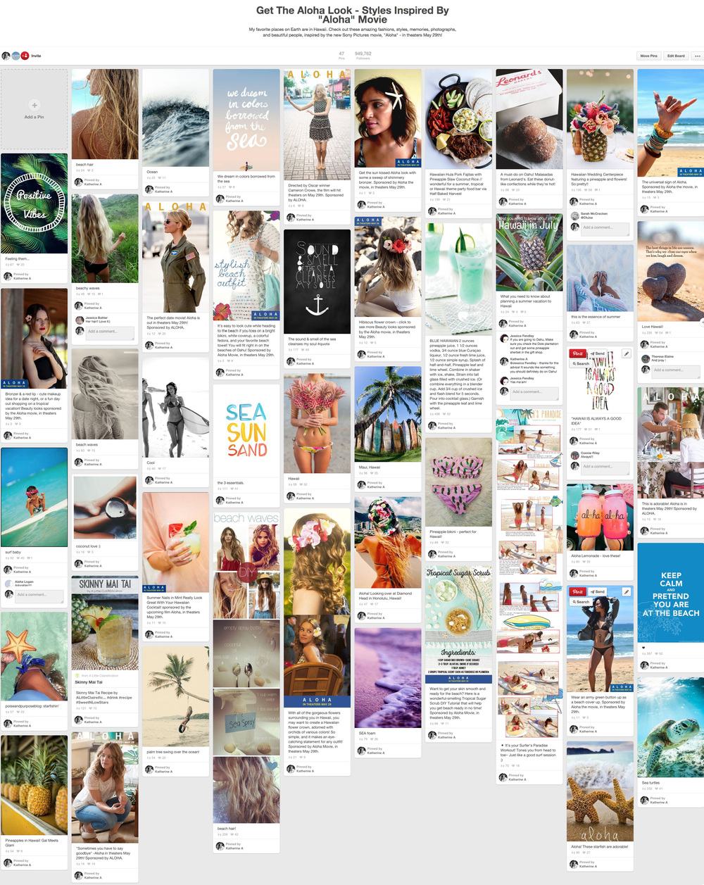Aloha Dedicated Pinterest Board