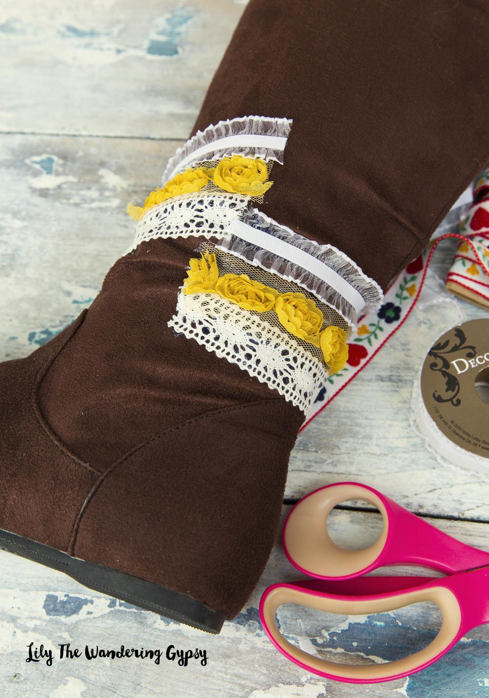 How To Make Boho Fringe Boots