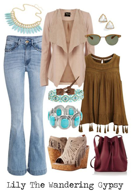 And,  this awesome outfit  has Earthy and Bohemian elements while still looking polished.