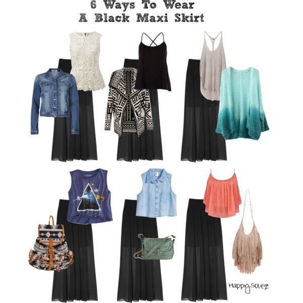 How To Style A Black Maxi Skirt - 6 Ways!