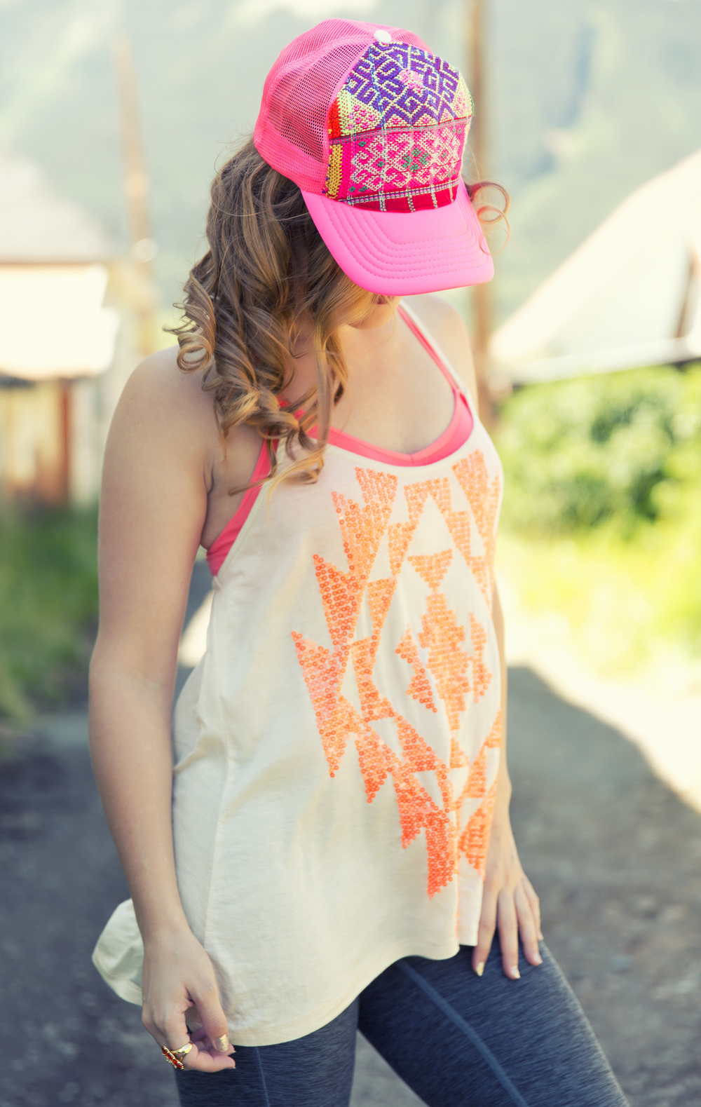 Aztec Top + Cute Hat - Photo by Katherine Accettura