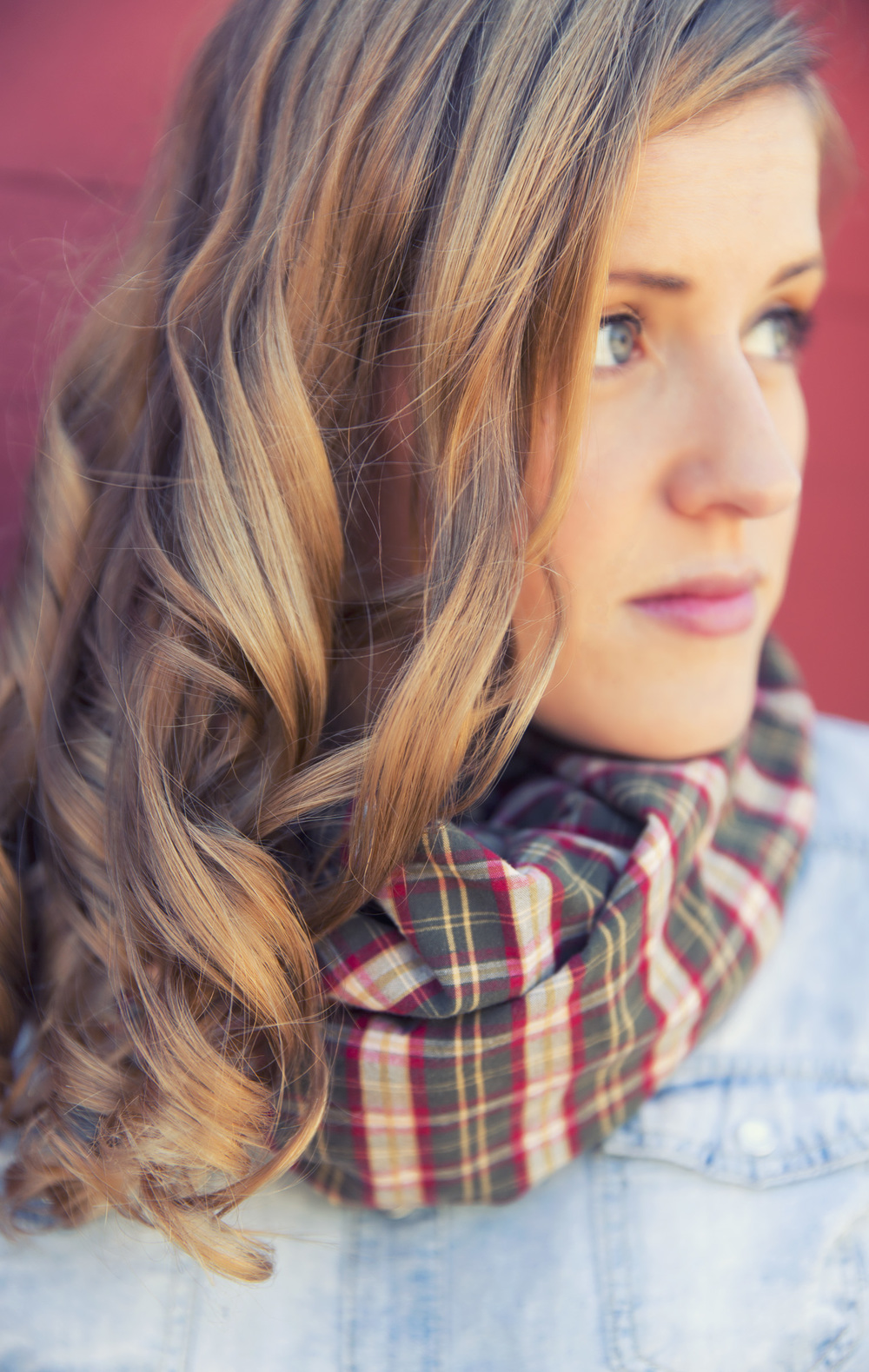 Cute, Plaid Scarf