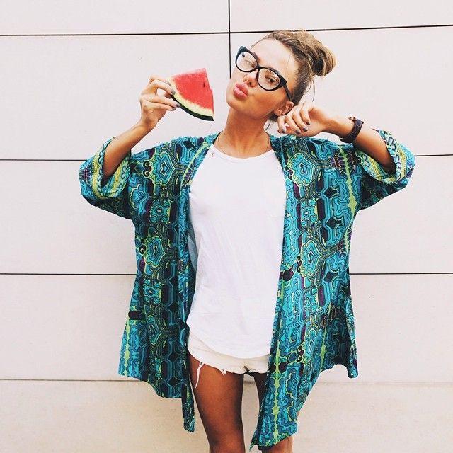Cute Kimono Outfit Idea