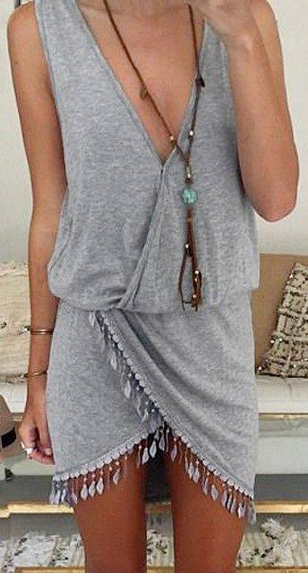 GREY DRESS /  Shop Here