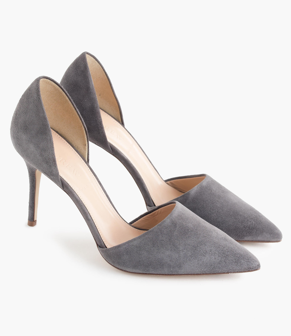 Beautiful, Grey Suede Heels