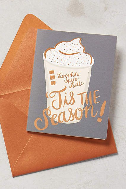 Latte Season Card - so cute!
