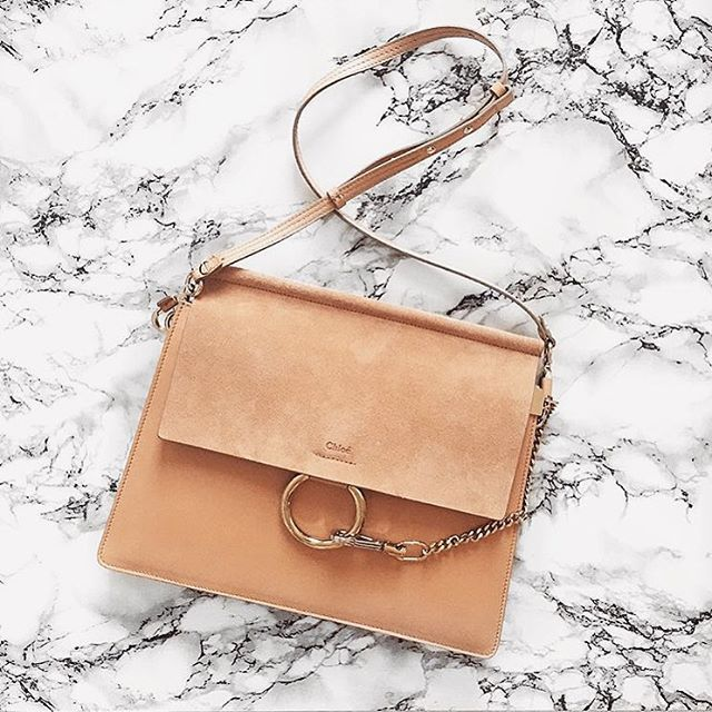 CHLOÉ 'FAYE' MEDIUM SUEDE FLAP LEATHER SHOULDER BAG - Click To Shop