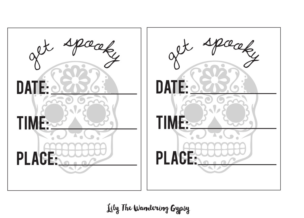Spooky Invites - Free Printable