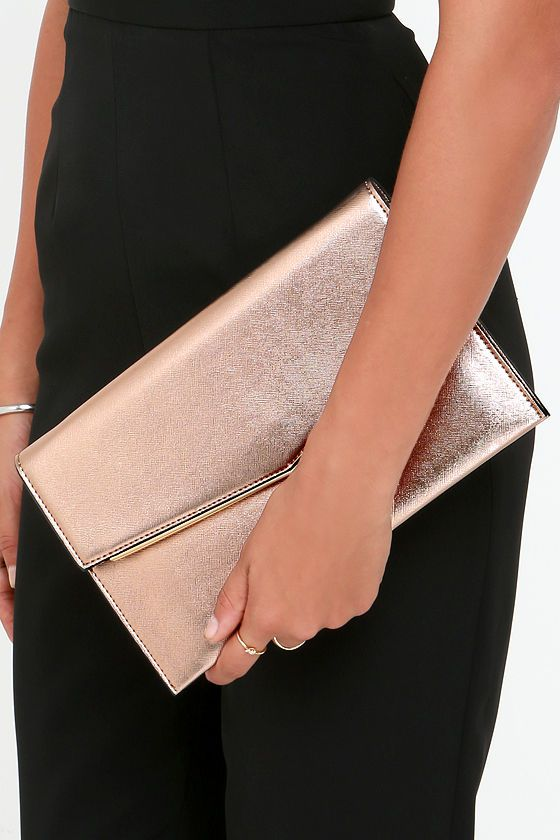 Rose Gold Clutch / Click To Shop