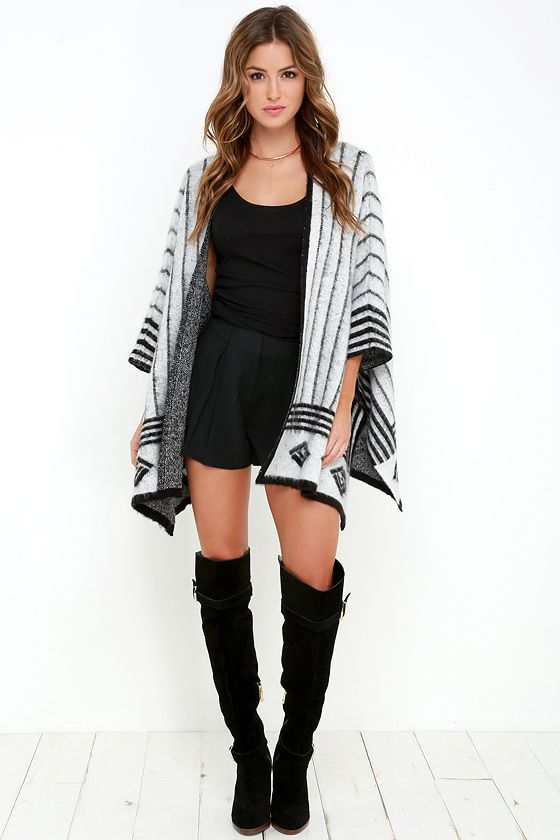 Adorable Poncho Sweater / Click To Shop