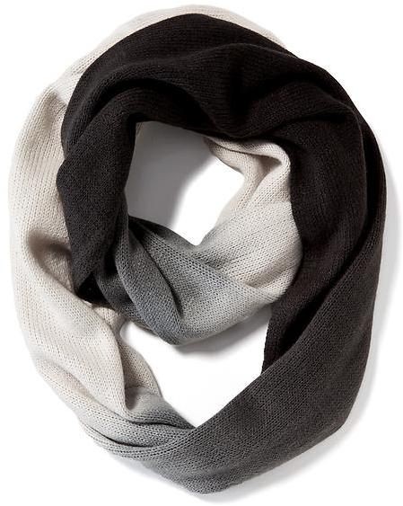 Black, Grey, White Ombre Infinity Scarf