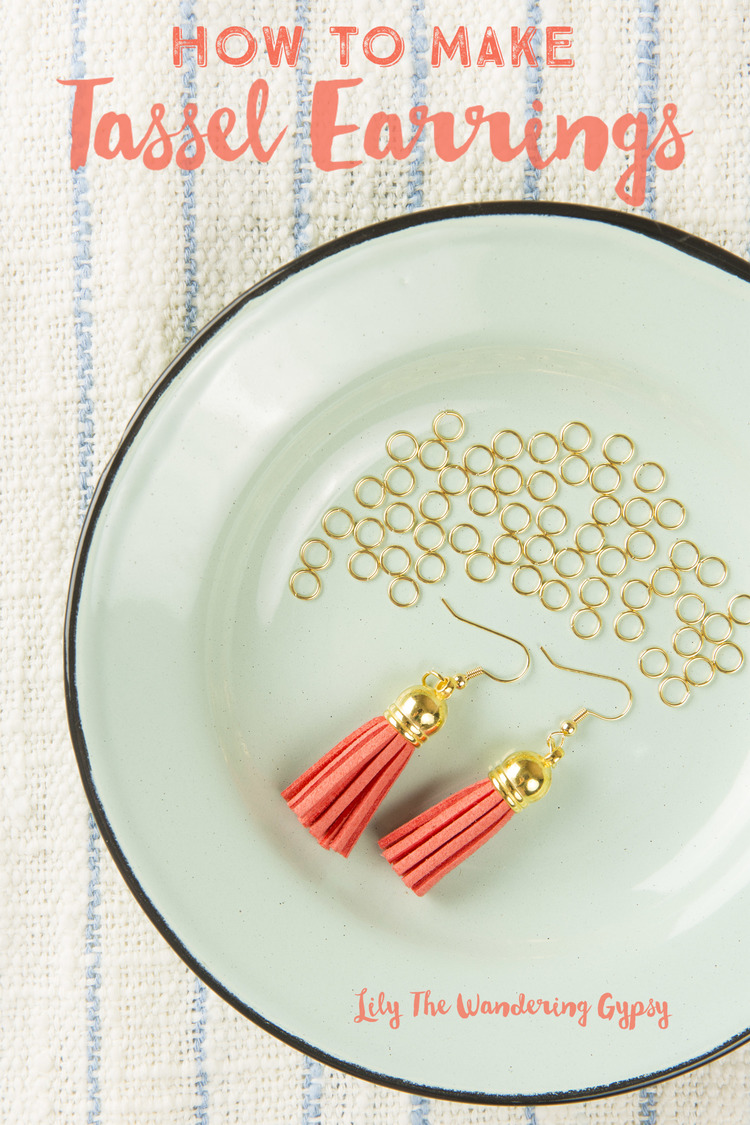 All you need is 3 materials for these super easy,  Tassel Earrings , and they make a thoughtful gift.