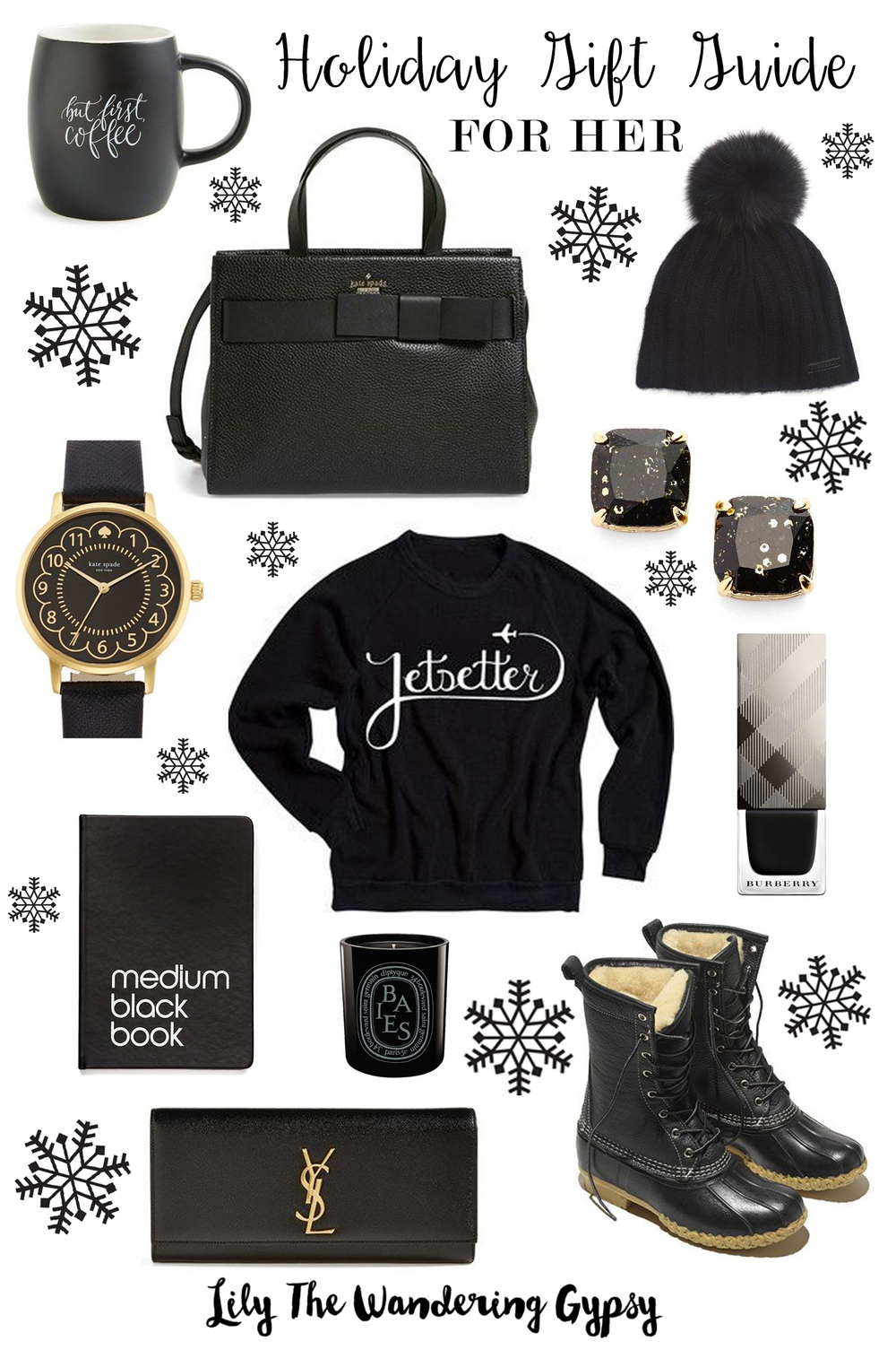 Black and White Gift Guide For Her