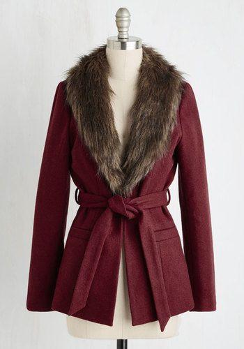 Burgundy Jacket With Trim