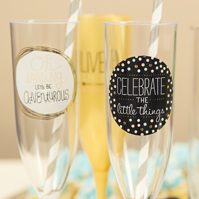 How To Make These Cute Champagne Flutes!
