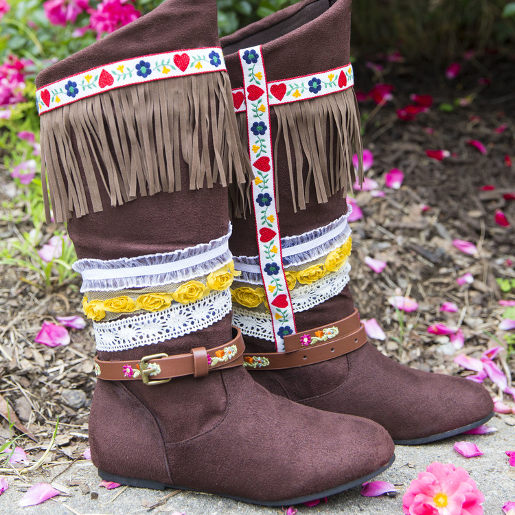 How To Make Boho Fringe Boots